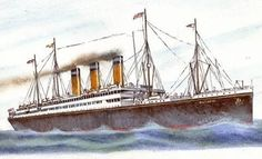 Original design for the Olympic Class before White Star revised the design.