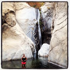 Tahquitz Canyon hike in Palm Springs >>> Fun, beautiful hike and it has a waterfall you can swim under at the end. Sign me up!