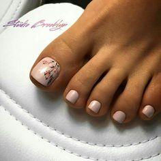 trendy Ideas for cute pedicure colors toenails Nail Designs Toenails, Gel Toe Nails, Feet Nail Design, Feet Nails, Toe Nail Designs, Toe Nail Art, My Nails, Easy Toenail Designs, Acrylic Toe Nails