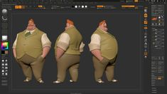 """La Bouff from the Disney film """"The Princess and the Frog"""". Designed by Randy Haycock. Fat Character, 3d Model Character, Character Drawing, Character Design, Disney Films, Disney Characters, Maya Modeling, Character Turnaround, Found Art"""