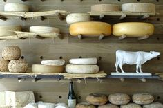 Cheese please! La Fromagerie in London Charcuterie, Woods Restaurant, Restaurant Design, Cheese Display, French Cheese, English Cheese, Wine Cellar Design, Cheese Shop, Gourmet