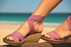 Summer sandals shoes beach