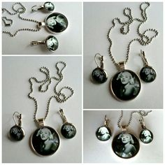 """Young Marilyn Monroe Set Necklace measures 17.5""""   Pendant measures 1.5 x 1""""  Earrings measure 3/4 x 3/4""""  New without tags. Fashion Jewelry  Jewelry Necklaces"""