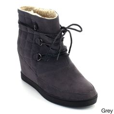 De Blossom Collection Yoga-2 Women's Up Quilted Winter Snow Ankle Boots