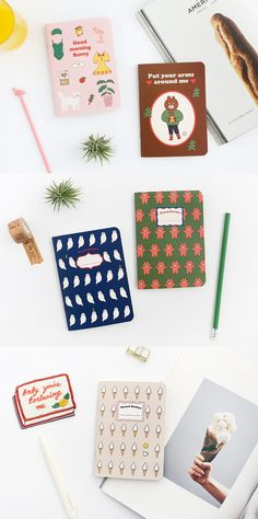 This small handy notebook has both lined note and plain note allowing you to both write neatly and draw freely!