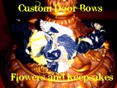 $6.00 covered Headband. Go to my Facebook Page at Custom Door Bows, Flowers and Keepsakes