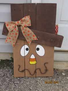 Scarecrow Snowman Reversible Pallet Wood by YoungsTreasures