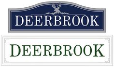 Design for Deerbrook subdivision. Deer carving suggested. www.customoutdoorwoodensigns.com