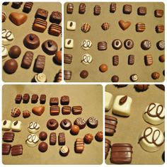 Pralines gemaakt uit fimo klei voor in de winkelhoek. Preschool Art Activities, Kindergarten Themes, Small World Play, Happy Foods, Dramatic Play, Clay Creations, Bakery, Miniatures, Holiday Decor