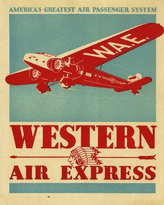 early aviation label for the Western Air Express.