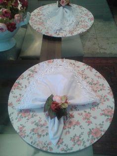 Guardanapo de Guipir com PG buque de rosas