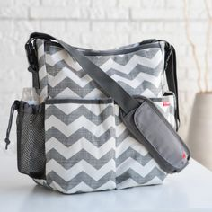 This is a dipper bag and it has pockets on the outside. Also it has a place to keep stuff in it like a bottle or maybe a phone.