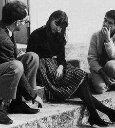 Jean-Luc Godard and Anna Karina.