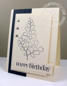 Faux embossing by using cream on cream