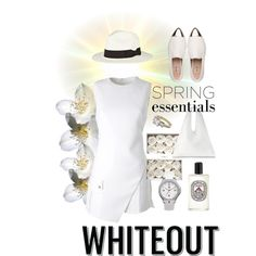 Spring Whiteout by ceci-alva on Polyvore featuring Mode, Versace, Miu Miu, MM6 Maison Margiela, Tommy Hilfiger, Sensi Studio, Diptyque and springwhiteout