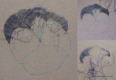 Progress after five days of my silk shading embroidery retreat @Märchenhaftes Sticken in Germany.