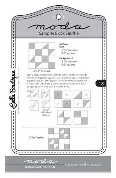 {Sisters and Quilters}: Moda Sampler Shuffle Blocks 16-18