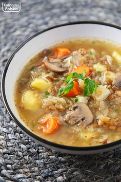 Soup Recipes, Diet Recipes, Cooking Recipes, Healthy Recipes, Vegan Vegetarian, Vegetarian Recipes, Good Food, Yummy Food, Polish Recipes