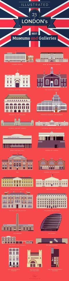 23 museos y galerías de arte para visitar en Londres / Illustrated 23 of London's best museums and galleries