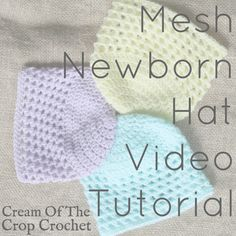 This Mesh Newborn Hat never fails to remind me of the ocean! @CreamOfTheCropCrochet
