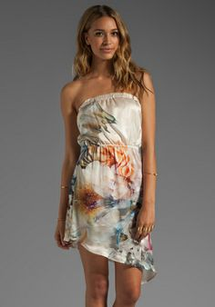 BEACH BUNNY Sweet Surrender Dress in Cream Tropical