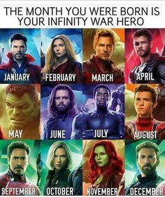 I got Bucky. so I have a very tragic backstory and memory issues. Couldn't it be birthday month = avengers boyfriend <<<Tony Staaark<<<<<Yasssss! I got Gamora! Avengers Humor, The Avengers, Marvel Jokes, Funny Marvel Memes, Dc Memes, Marvel Dc Comics, Avengers Quiz, Thor Meme, All Marvel Heroes