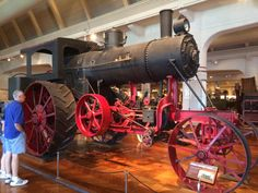 I visited the Henry Ford Museum in Dearborn last week. Care to take a look? (Pic heavy with vids) - Democratic Underground Henry Ford Museum, Old Tractors, Steam Engine, Steam Locomotive, Route 66, Engineering, Old Things, Take That, Train