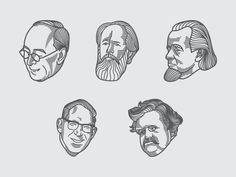 Biography Illustrations (Engraving Scratchboard Style) by Peter Voth #Design Popular #Dribbble #shots