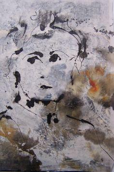 portret, gemengde technieken van Marian Filarski