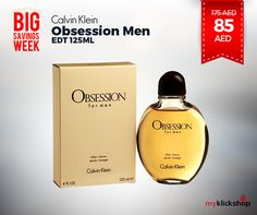 Calvin Klein Obsession Men EDT 125ML - now @ 85AED only on #myklickshop.