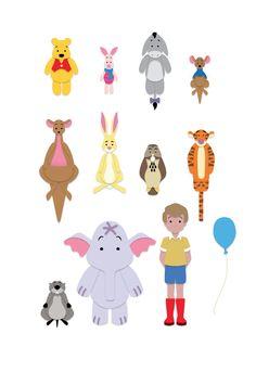 Pooh icon set by Professor Joel Judkins