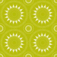 stylized green flower pattern fabric by suziedesign on Spoonflower - custom fabric Pattern Fabric, Green Flowers, Abstract Pattern, Custom Fabric, Flower Patterns, Spoonflower, Craft Projects, Fabrics, Colorful