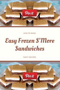 Easy Frozen S'More Sandwiches Salami Sandwich, Hummus Sandwich, Grill Sandwich, Croissant Sandwich, Gourmet Sandwiches, Reuben Sandwich, Party Sandwiches, Bagels Sandwich, Mozzarella Sandwich