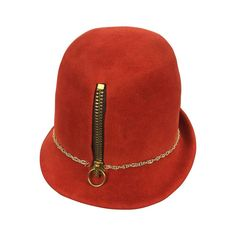 4f12e732e68 View this item and discover similar hats for sale at - Yves Saint Laurent  Mod zipper fedora hat.