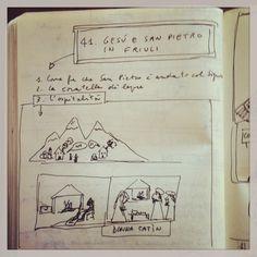 041_Gesù e San Pietro in Friuli disegnata da Marco Belpoliti su @ moleskine