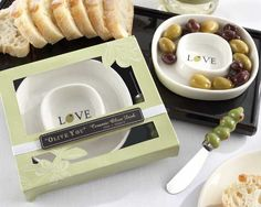 """""""Olive You"""" Olive Tray and Spreader"""