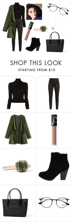 """""""Untitled #325"""" by fashion-with-dudette on Polyvore featuring BLK DNM, Levi's, NARS Cosmetics, Pomellato, Ray-Ban and Louis Vuitton"""