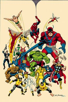 Marvel Heros, por Sal Buscema, 1960