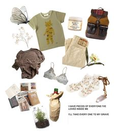 """""""wind blowing over wheat fields"""" by smothersea ❤ liked on Polyvore featuring Humör, True Religion, Grace, La Perla, Burt's Bees, Falke, Beara Beara, Vous Etes and Pier 1 Imports"""