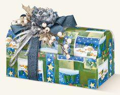 Geschenkverpackung, Schatulle – COFANETTO (330x180x170 mm.) ( Inhalt 10  Stück )