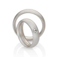 ORRO Contemporary Jewellery Glasgow - Niessing - Pointed Oval - Wedding Rings - Diamond Wedding Ring - brilliant cut diamond
