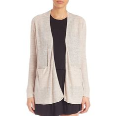 Joie Kamie Basket Stitch Cardigan (152 CAD) ❤ liked on Polyvore featuring tops, cardigans, apparel & accessories, long sleeve tops, pink cardigan, long sleeve cardigan, pink top and joie cardigan