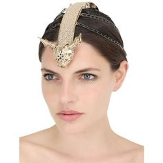 Vittorio Ceccoli Women Minotaur Headpiece ($830) ❤ liked on Polyvore featuring accessories and hair accessories