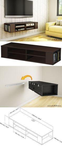 modernes wohnzimmer gestalten - tv tisch und weiße sofas Design