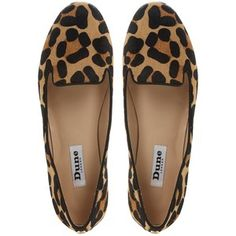 Dune Limbo Pony Print Loafers , Multi - Polyvore