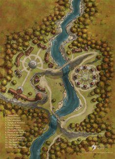 Elf Village Shop Iconic Maps Fantasy city map Fantasy world map Fantasy map