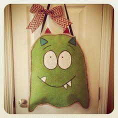 Burlap Monster Door Hanger!