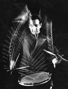 Drummer Gene Krupa at Gjon Mili's studio, 1941 — with Gene Krupa. Courtesy Stefano Magni