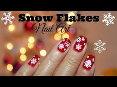 12 DIYs of Christmas : Snow Flakes Nail Art