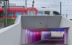 Kostverloren tunnel-in Zutphen, Netherlands - architecture by Maurer United, lighting by Herman Kuijer, dutch artist